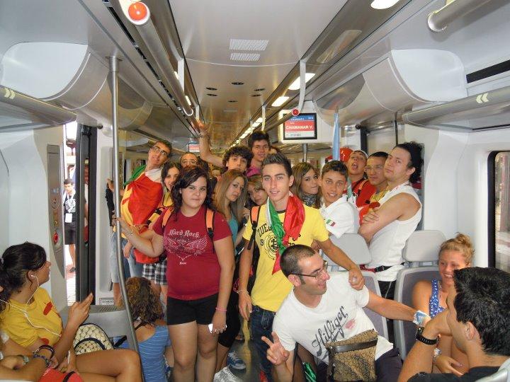 Gruppo dei giovani del Movimento Giovanile Mercedario che ha partecipato alla Giornata Mondiale della Gioventù - Madrid 2011.