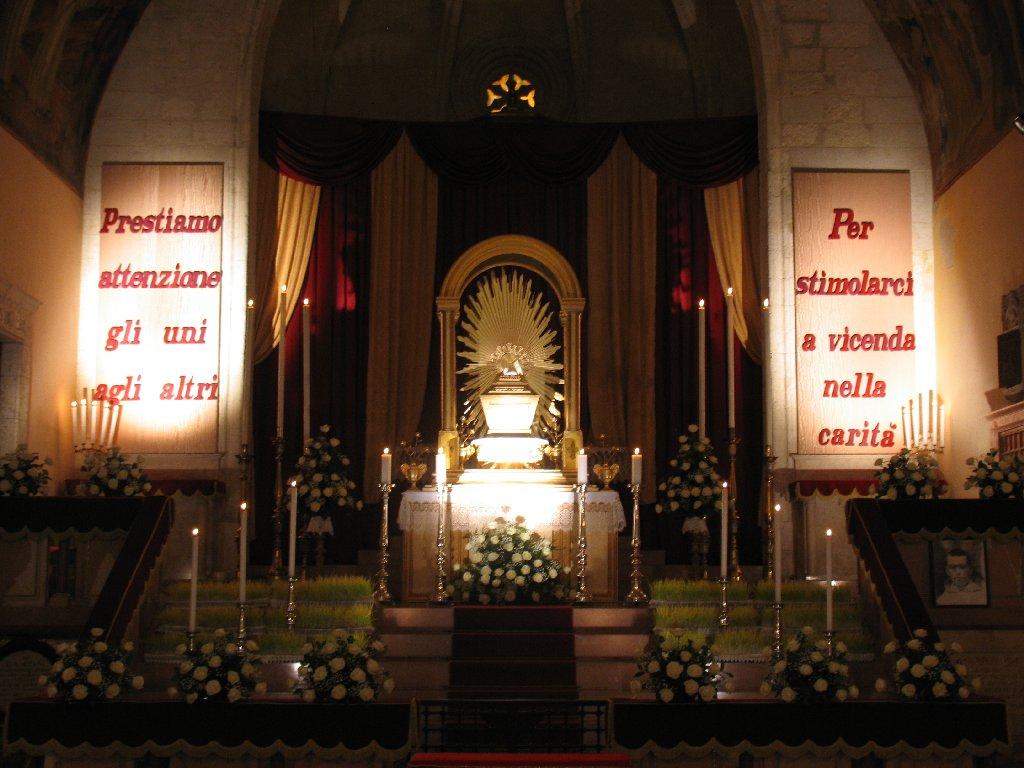 Giovedi Santo 2012 Altare della Reposizione